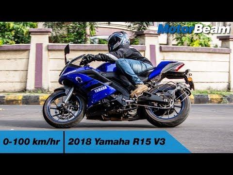 2018 Yamaha R15 V3 - 0-100 km/hr [VBOX] | MotorBeam