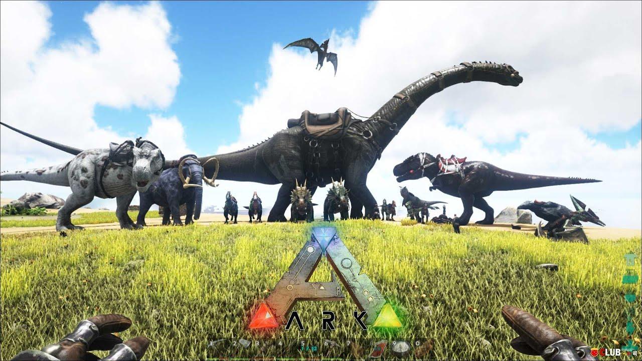SOBREVIVIENDO ENTRE DINOSAURIOS  ARK Survival Evolved  Juegos