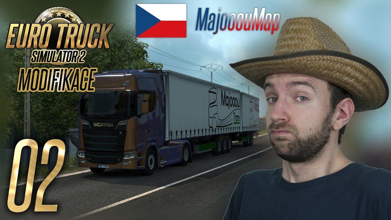 GIGALINER V ČESKU!   Euro Truck Simulator 2 MajooouMap #02