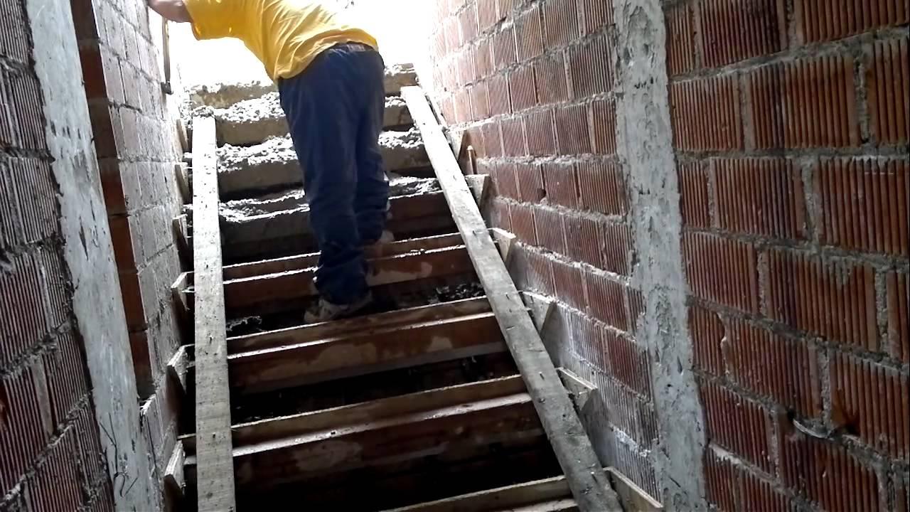 Casa olvera colado de escalera youtube Como construir una escalera de cemento