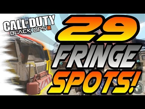 ALL 29 FRINGE Spots & Glitches! - Ledges, Hiding Spots, Lines of Sight (Black Ops 3/BO3)