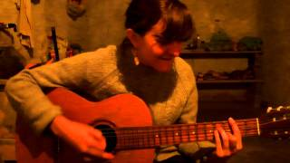 Farmstay in Brazil - Juliette Gaillard playing guitar