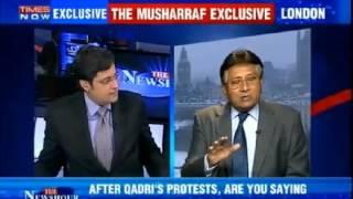 Pervez Musharraf fight and Slapped Indian media part 3