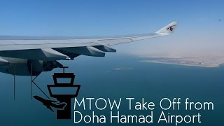 MTOW I Qatar Airways Airbus A340-600 Super Long Take Off from Doha Hamad Airport (DOH)