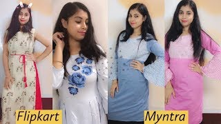 Myntra and Flipkart dress shopping haul !!SuhaniStyleTips