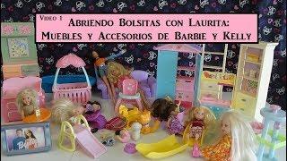 Abriendo Bolsitas con Laurita: Muebles y Accesorios de Barbie y Kelly (Video 1) thumbnail