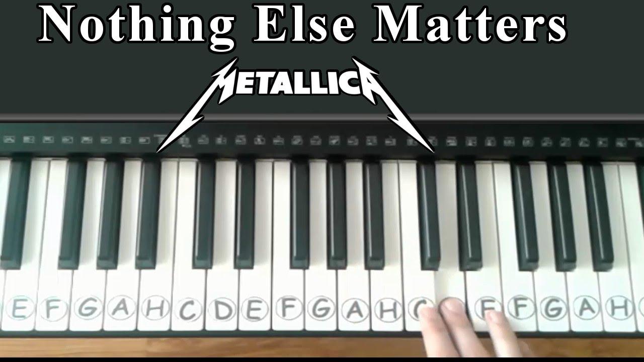 Nothing Else Matters - Metallica - Easy Piano Tutorial ...