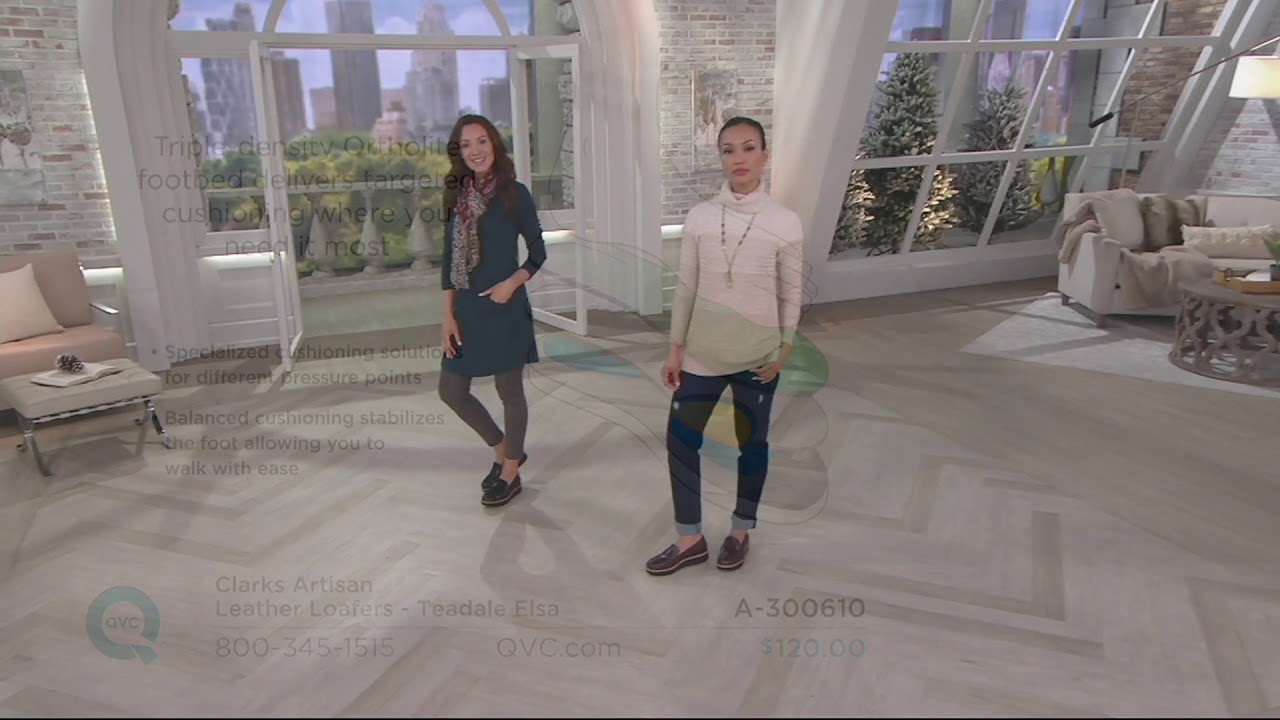 6e2f237080d Clarks Artisan Leather Loafers - Teadale Elsa on QVC - YouTube
