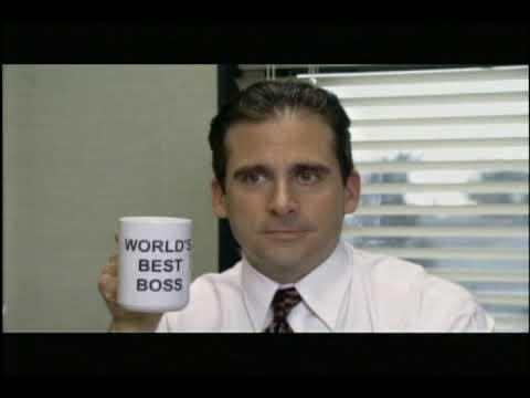 Michael Scott, World's Best Boss - YouTube