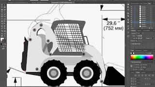 Видео-урок. Рисуем в векторе в Adobe Illustrator CC. Draw a vector image in Adobe Illustrator