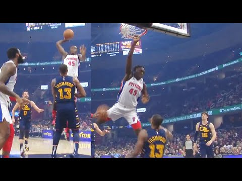 Tristan Thompson Gets His Career Ended & Murdered By 19 Year Old Sekou's Dunk! Cavaliers Vs Pistons