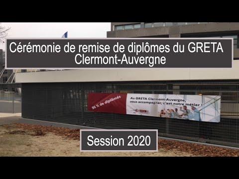 Cérémonie de remise de diplômes session 2020 - GRETA Clermont-Auvergne