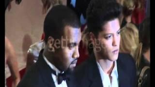 Bruno Mars & Kanye West in NY