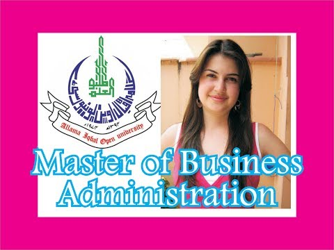 Allama Iqbal Open University, AIOU MBA, Masters in Business Administration