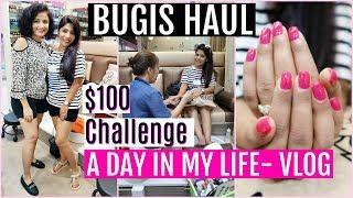 $100 CHALLENGE Singapore Bugis Shopping HAUL | A Day In My Life Vlog |  SuperPrincessjo