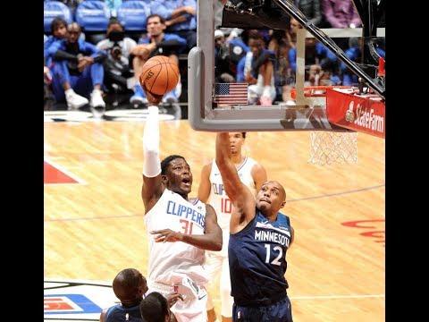 Debut del dominicano Angel Delgado con Los Angeles Clippers en la PreTemporada de la NBA