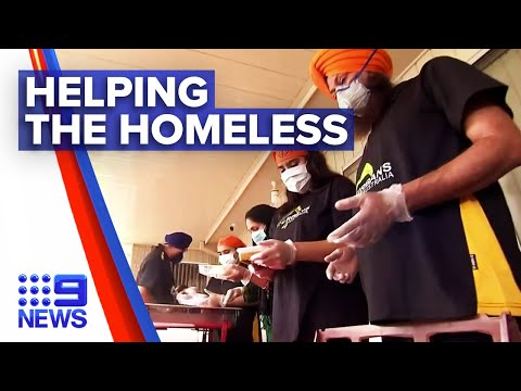 Sydney Sikh community helps the homeless | Nine News Australia