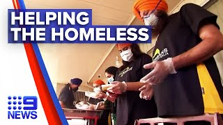 Sydney Sikh community helps the homeless | Nine News Australia