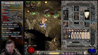 Diablo 2 - Ancient Tunnels with Infinity Wind Druid + Pindle Zerker- Chill Stream   02/13/2019