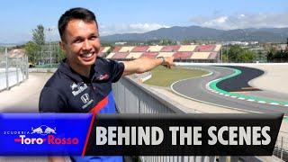 F1 #Formula1 #F12019 - Alex Albon had a day off in the post-Spanish...