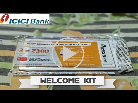 ICICI Bank Welcome Kit Unboxing | ICICI Debit Card Unboxing , ATM Pin, NetBanking.....