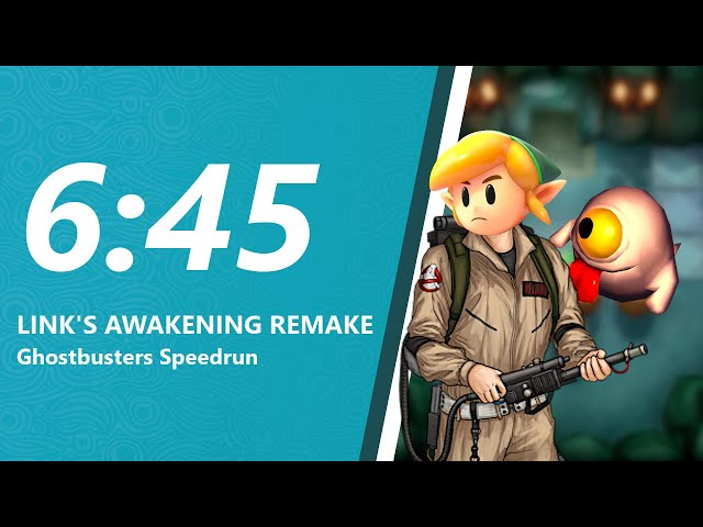 Link's Awakening Remake Ghostbusters Speedrun in 6:45