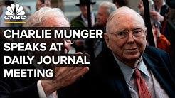 Legendary investor Charlie Munger speaks at Daily Journal annual meeting – 2/12/2020