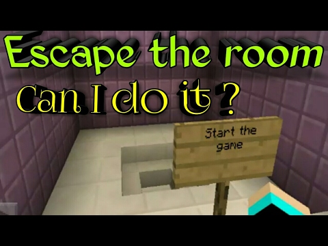 Minecraft pe can i escape the room i 39 ll die trying lol for Escape room gadgets