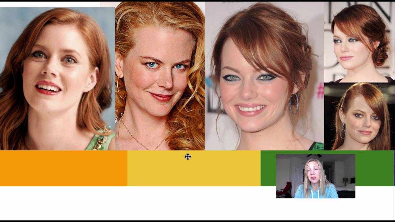 For the skin tones for redheads agree