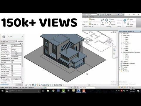 "Revit Architecture| Modern House Design #7 (Make designs without using ""Model in place"" )"