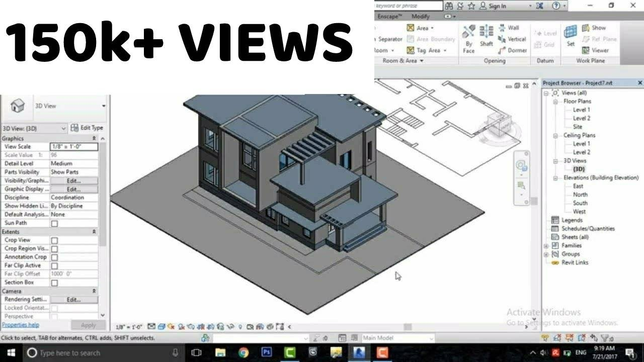Revit architecture modern house design 7 make designs for Revit architecture modern house design