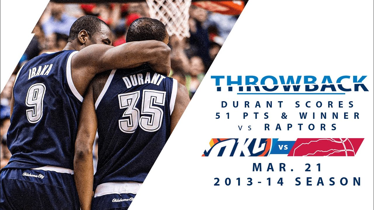 Download Durant Calls Game With 51 Points & A Game Winner In 2OT vs Raptors | Full Classic Game - 3.21.14