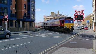*Rare, Massive Crossing* Canute Road Level Crossing, Southampton