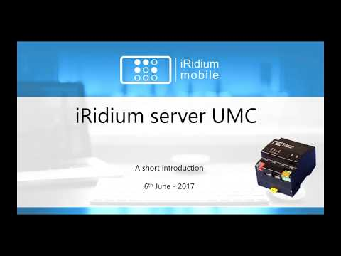 Presentation of iRidium server UMC