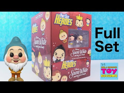 Disney Snow White Pint Size Heroes Funko Figures Full Set Unboxing | PSToyReviews