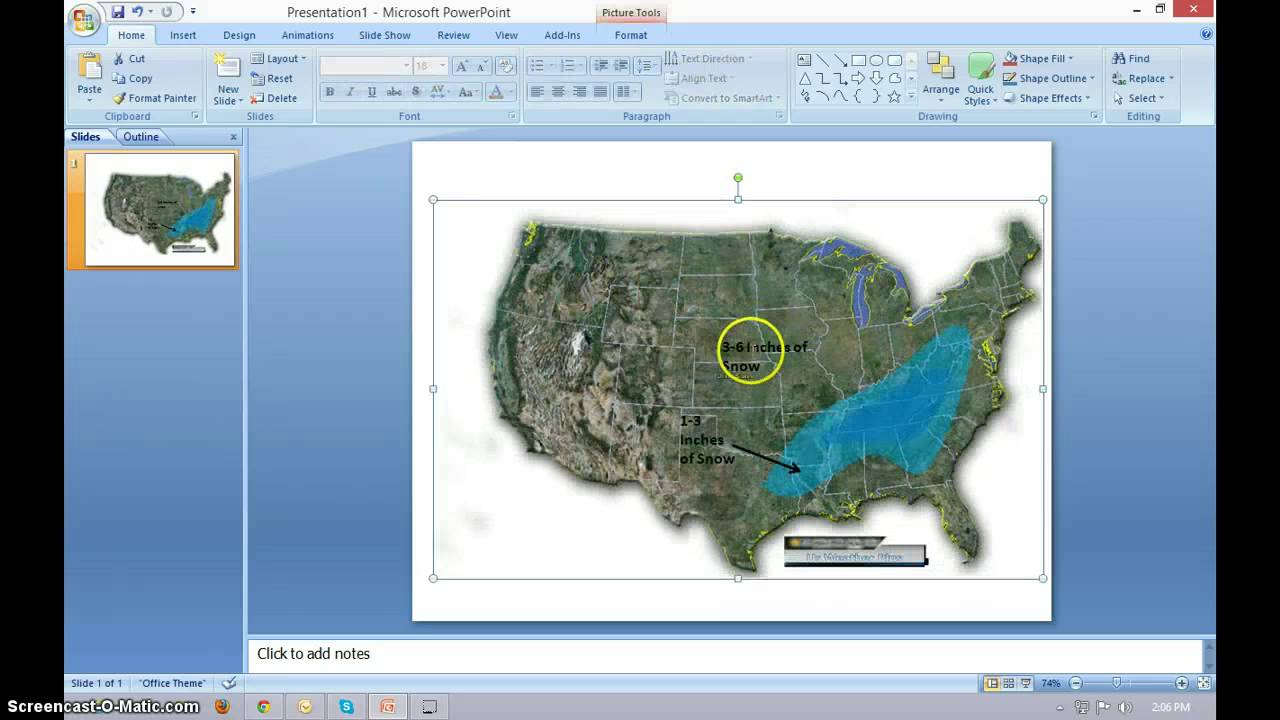 map in powerpoint
