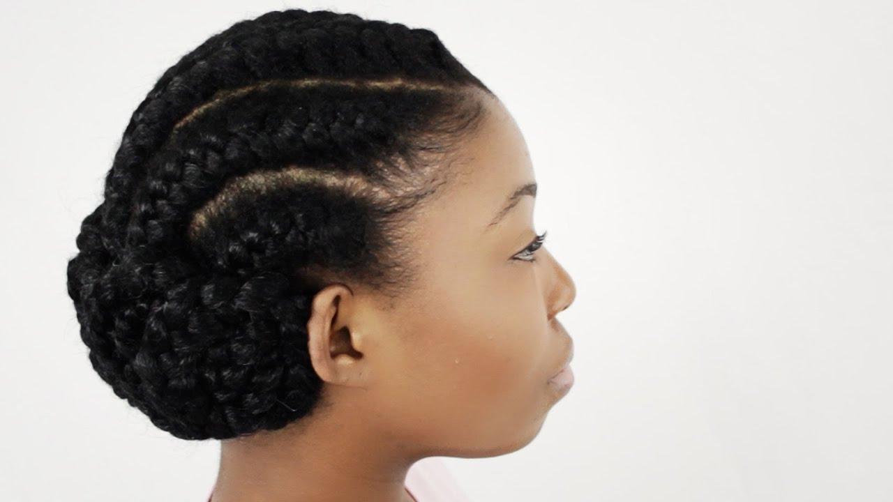 Goddess Braids On Natural Hair Finished Hairstyle Tutorial