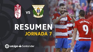 Resumen de Granada CF vs CD Leganés (1-0)
