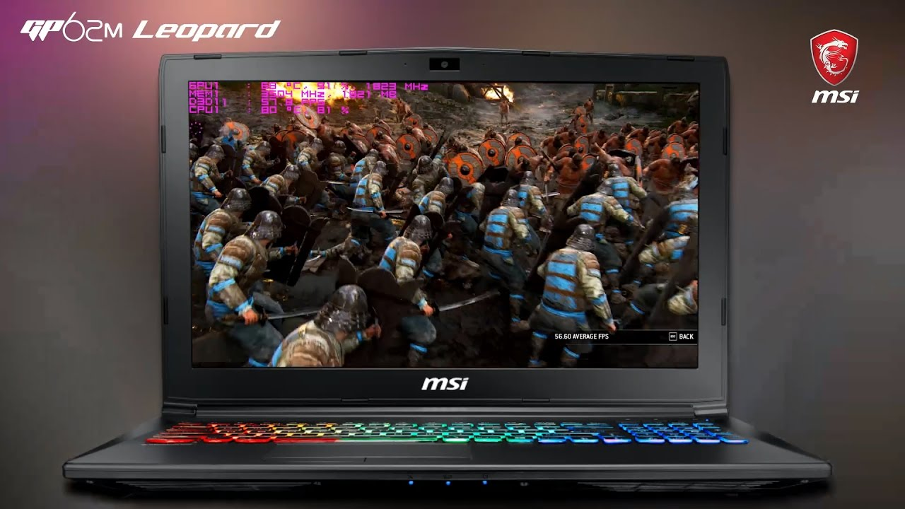 How Smooth Does it Run? Running UBISOFT's popular title FOR HONOR on MSI GP62M 7REX