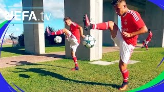 Benfica take the skills challenge