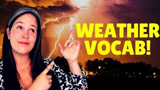 ENGLISH VOCABULARY | WEATHER VOCABULARY | LEARN ENGLISH | VOCABULARY FOR WEATHER | RACHEL'S ENGLISH