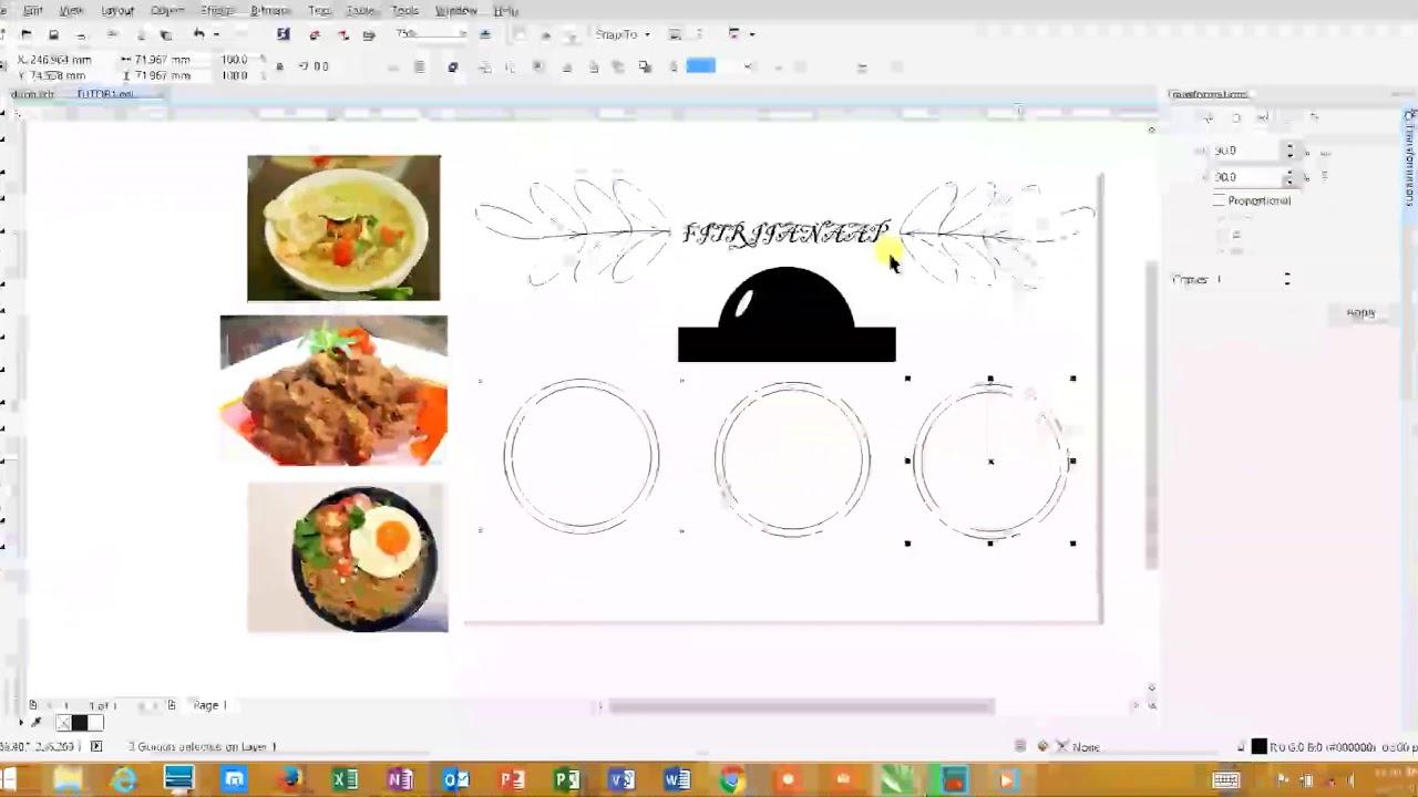 Cara Membuat Daftar Menu Makanan Di Coreldraw - Membuat Itu