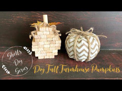 DIY Fall Farmhouse Pumpkins