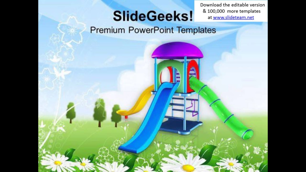 Go And Play In Playground This Summer Powerpoint Templates Ppt