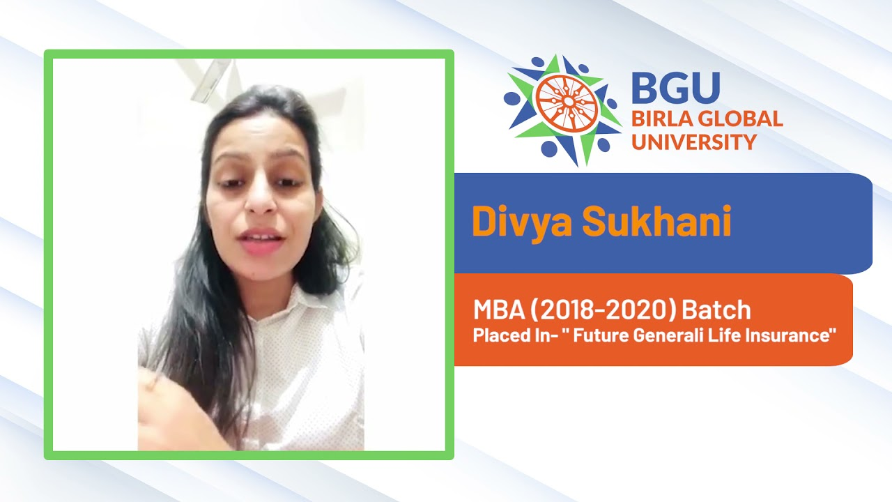 Student Testimonial   Divya Sukhani   MBA(18-20)   Future Generali India Life Insurance