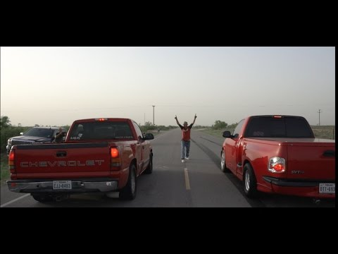 Turbo AWD UGLY Chevy Silverado vs 700 Horsepower Ford lightning! CHEVY SMOKES Lightning!