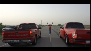 Turbo AWD UGLY Chevy Silverado vs 700 Horsepower Ford lightning! CHEVY SMOKES Lightning!