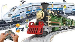 Обзор игрушек конструктор аналог Лего Поезд Banbao и паровоз Ausini