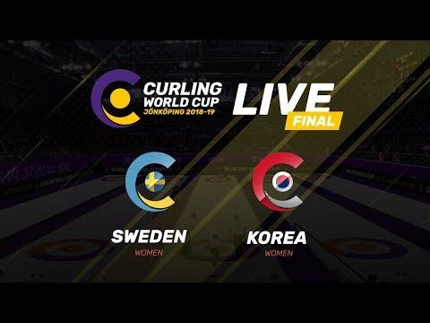 Sweden v Korea - Women's Final - Curling World Cup - Jonkoping, Sweden - third leg