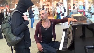 Tough Guy on Piano  Is Asked To Play Mary Poppins thumbnail